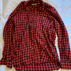 Men's Flannel - Red and Black Checker